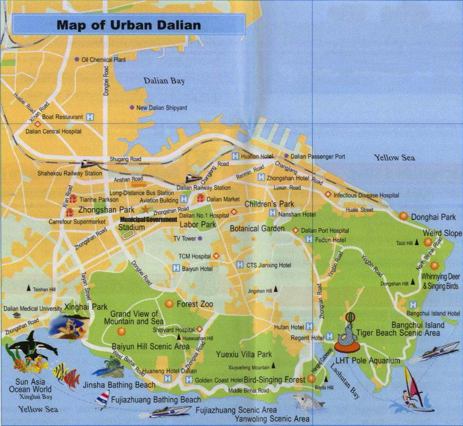 Dalian-City-Map