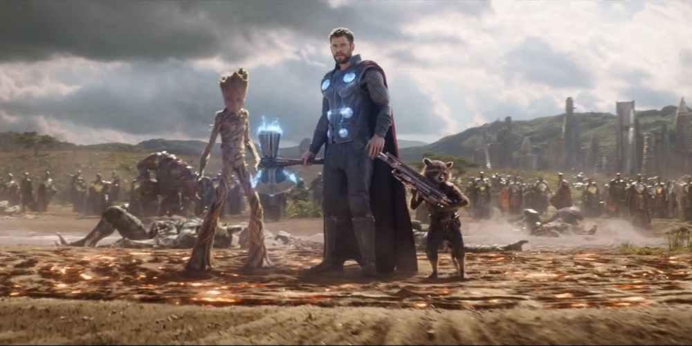 Avengers-Infinity-War-Thor-Rocket-Groot-Stormbreaker